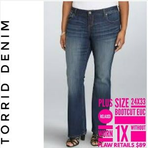 Torrid Jeans Plus Size 24x33 Relaxed Boot Cut